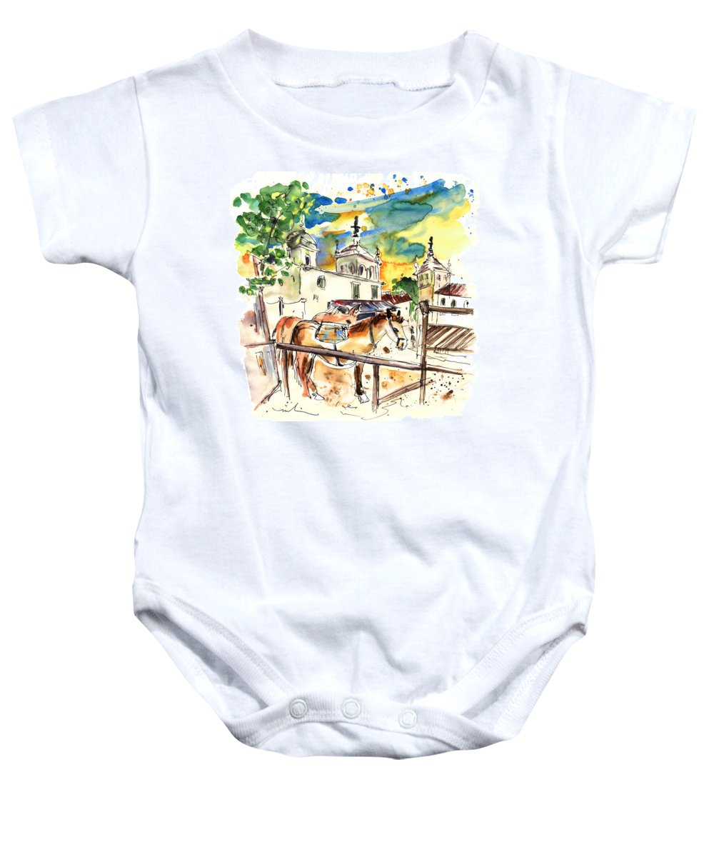 Travel Baby Onesie featuring the painting El Rocio 02 by Miki De Goodaboom