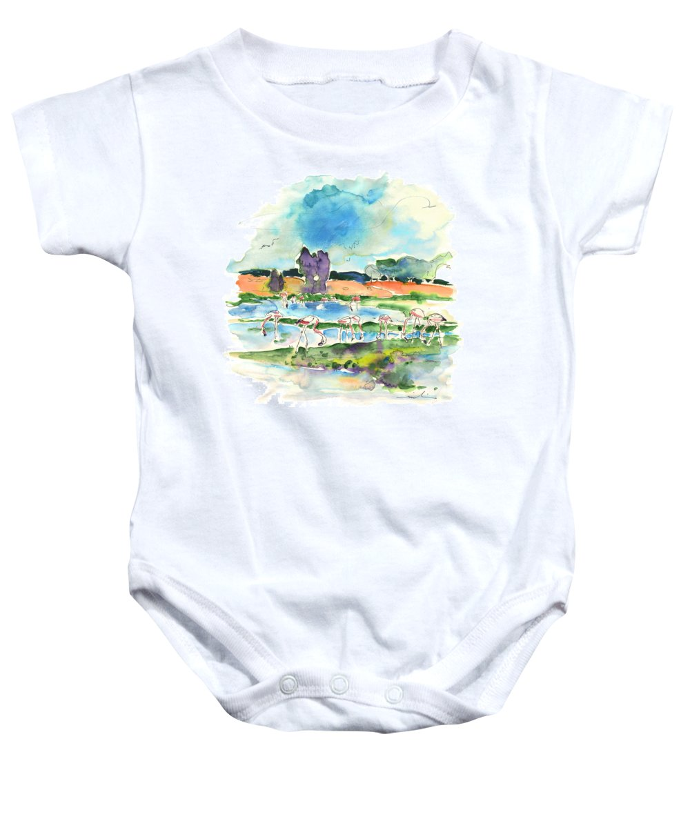 Travel Baby Onesie featuring the painting El Rocio 08 by Miki De Goodaboom