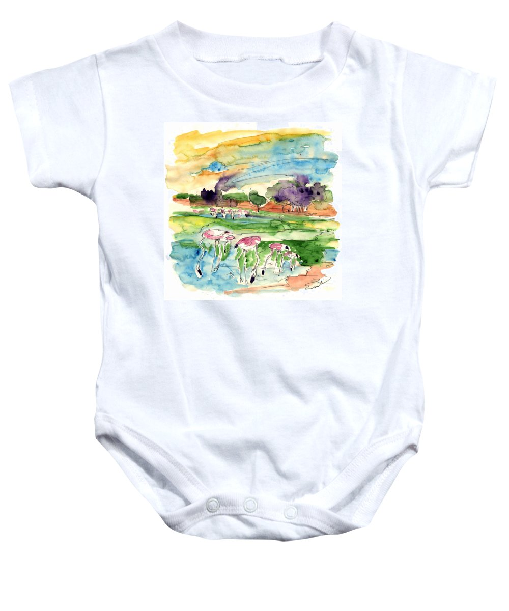 Travel Baby Onesie featuring the painting El Rocio 09 by Miki De Goodaboom