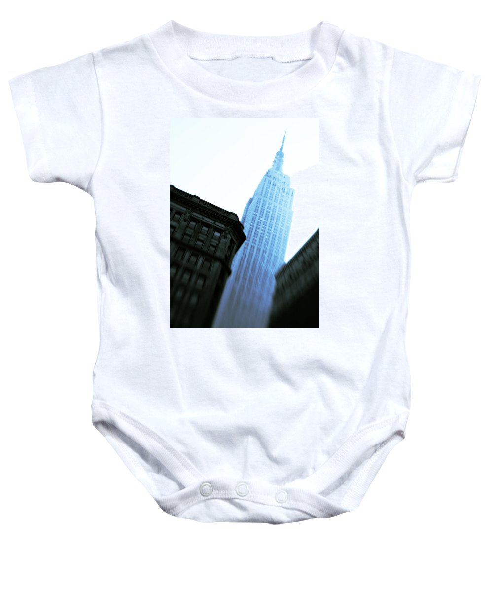 Empire State Building Baby Onesie featuring the photograph Empire State Building by Dave Bowman