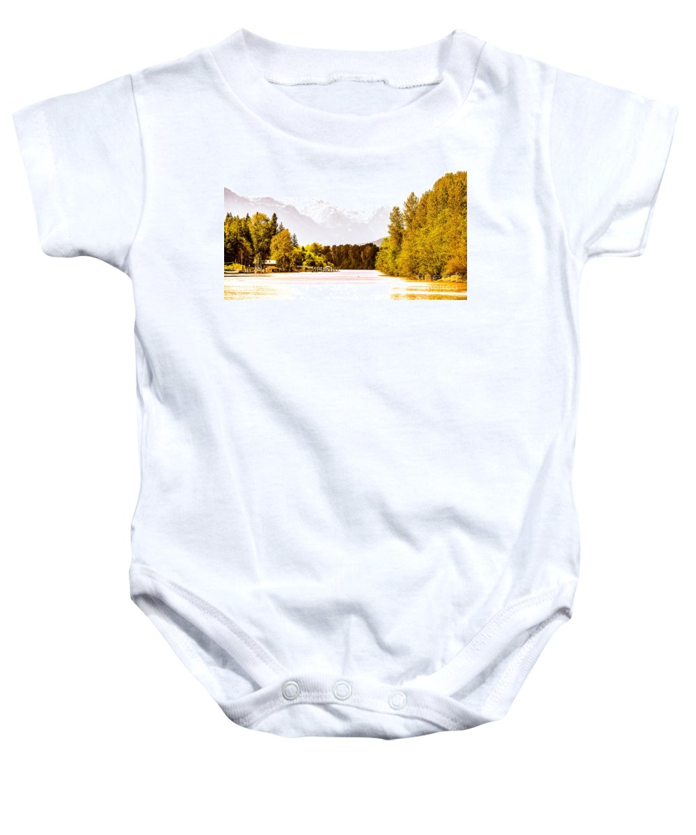 Digtial Colour Baby Onesie featuring the photograph F00445-10jpg by David Fabian