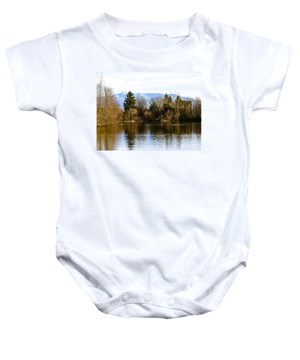 Fall Baby Onesie featuring the photograph F2110929 by David Fabian