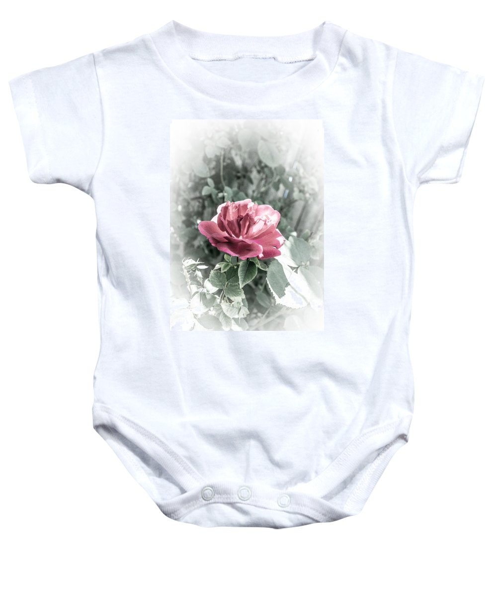 Faded Rose Baby Onesie featuring the photograph Faded Rose by Dazz Lee Photography