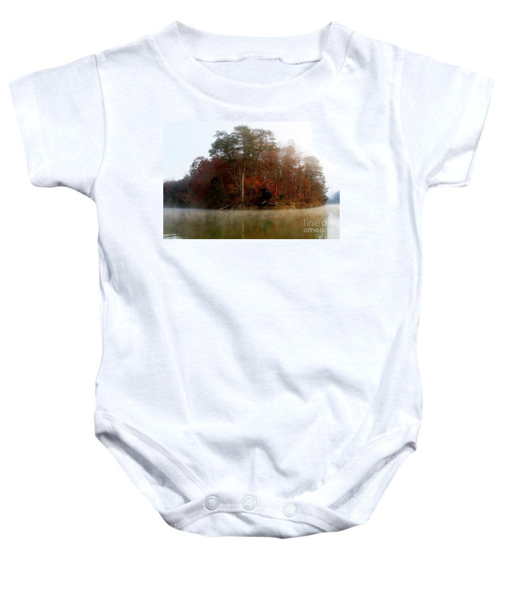 Lake Baby Onesie featuring the photograph Fall On Melton Hill Lake by Douglas Stucky