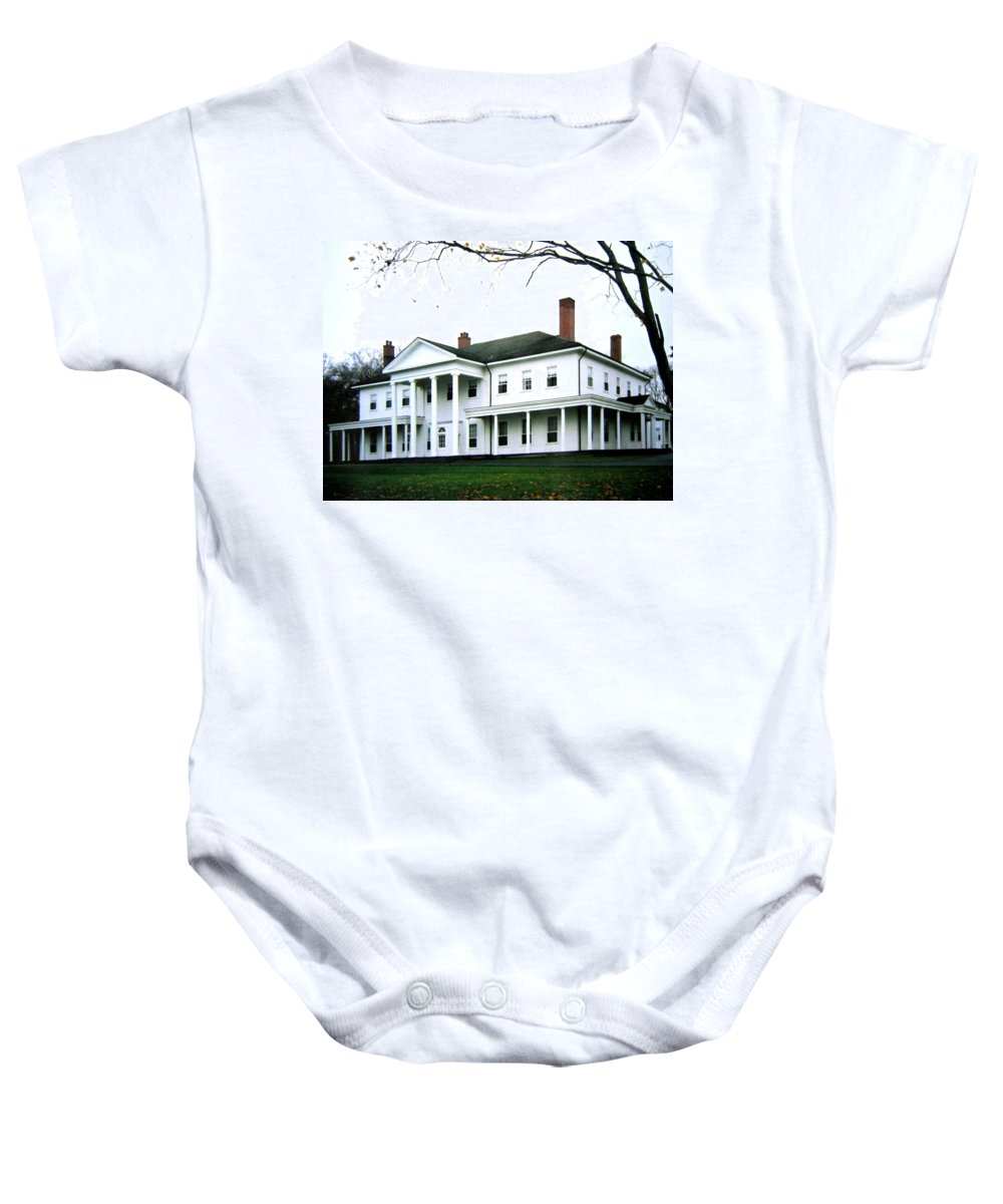 Fanningbank Baby Onesie featuring the photograph Fanningbank by Will Borden