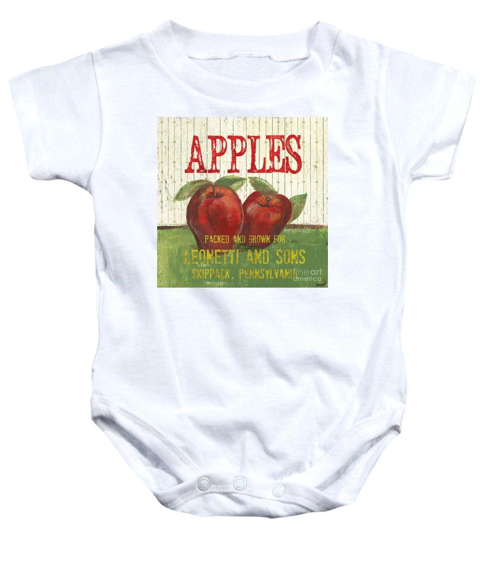 Food Baby Onesie featuring the painting Farm Fresh Fruit 3 by Debbie DeWitt