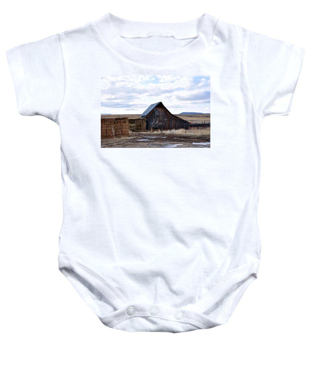 Idaho Baby Onesie featuring the photograph Farm Life by Image Takers Photography LLC - Laura Morgan