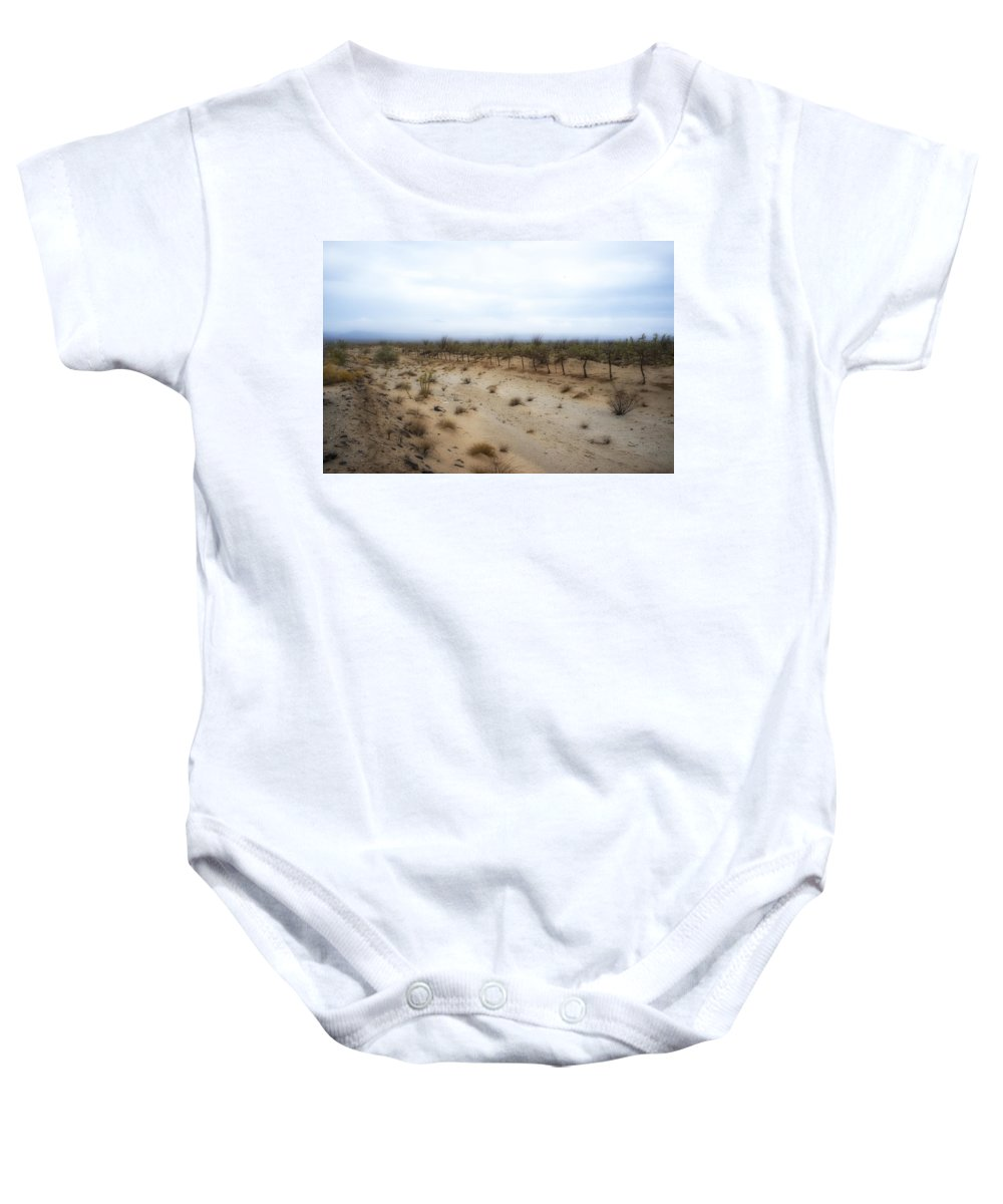 Sand Baby Onesie featuring the photograph Fencerow Ruta Del Vino by Hugh Smith