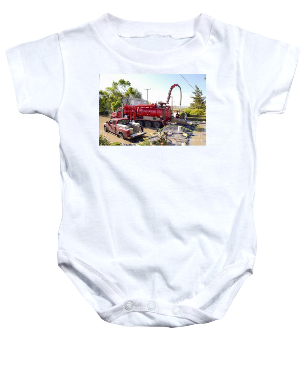 Flooding Baby Onesie featuring the photograph Flooding by Viktor Birkus