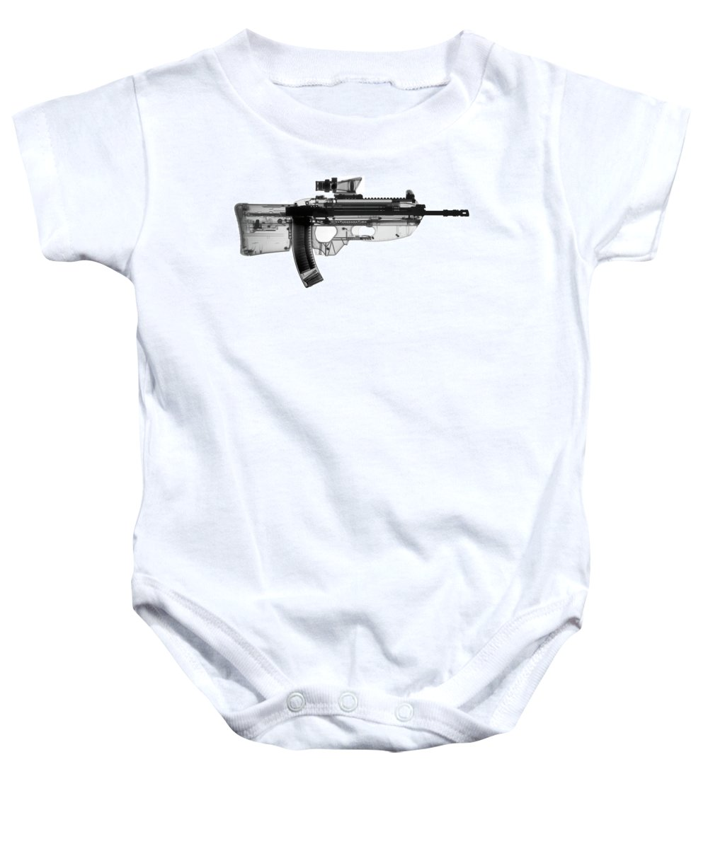 Gun Collectible Baby Onesie featuring the photograph Fn Fs 2000 X-ray Photograph by Ray Gunz