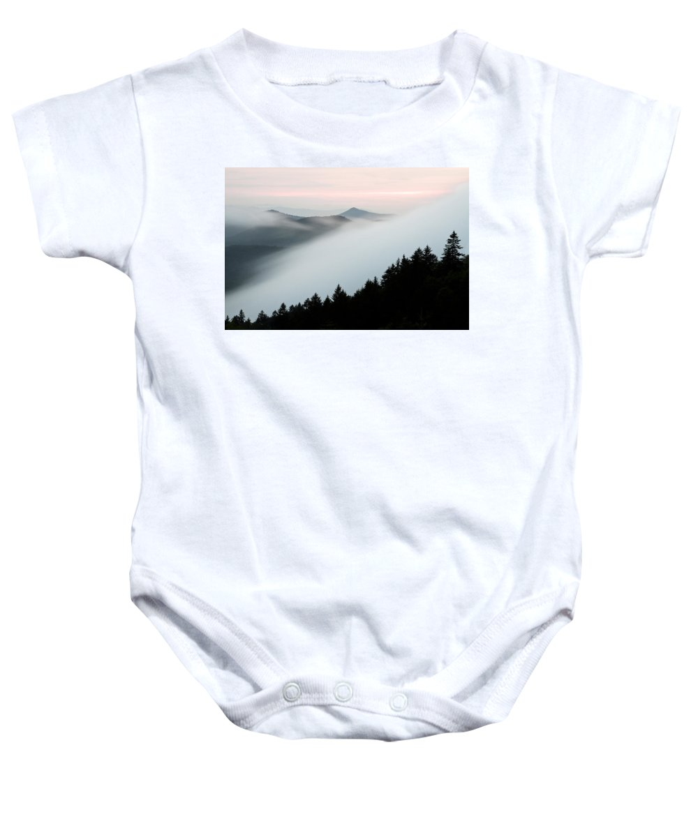 Fog Baby Onesie featuring the photograph Fog On The Mountain by Bill Swindaman