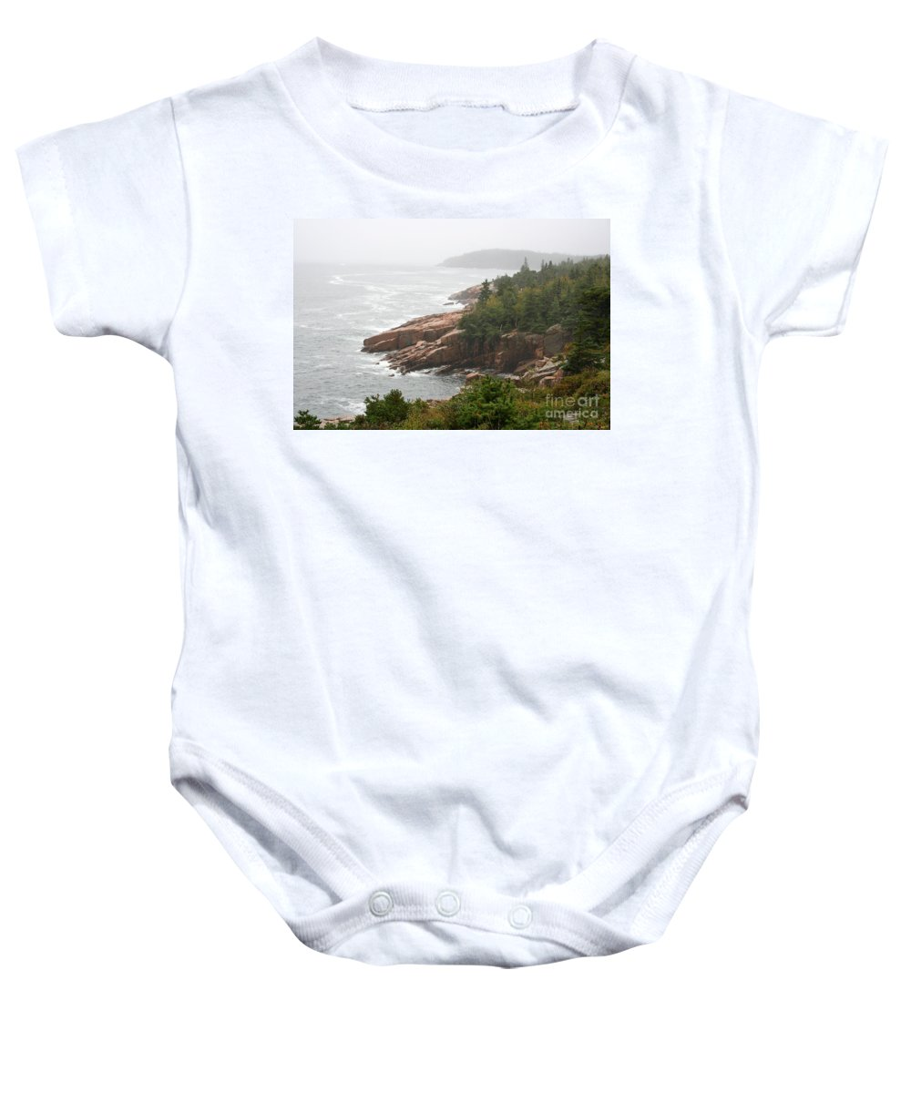 Sea Baby Onesie featuring the photograph Fog Over The Sea by Christiane Schulze Art And Photography