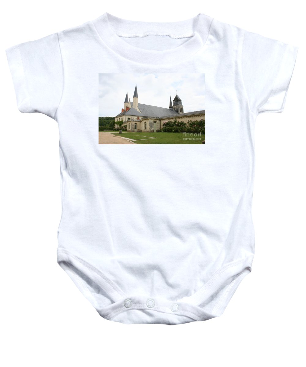 Cloister Baby Onesie featuring the photograph Fontevraud Abbey - France by Christiane Schulze Art And Photography