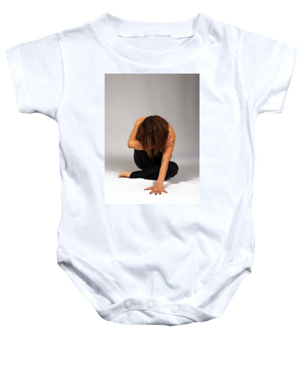 Women Baby Onesie featuring the photograph Forgive by Nadine Lewis