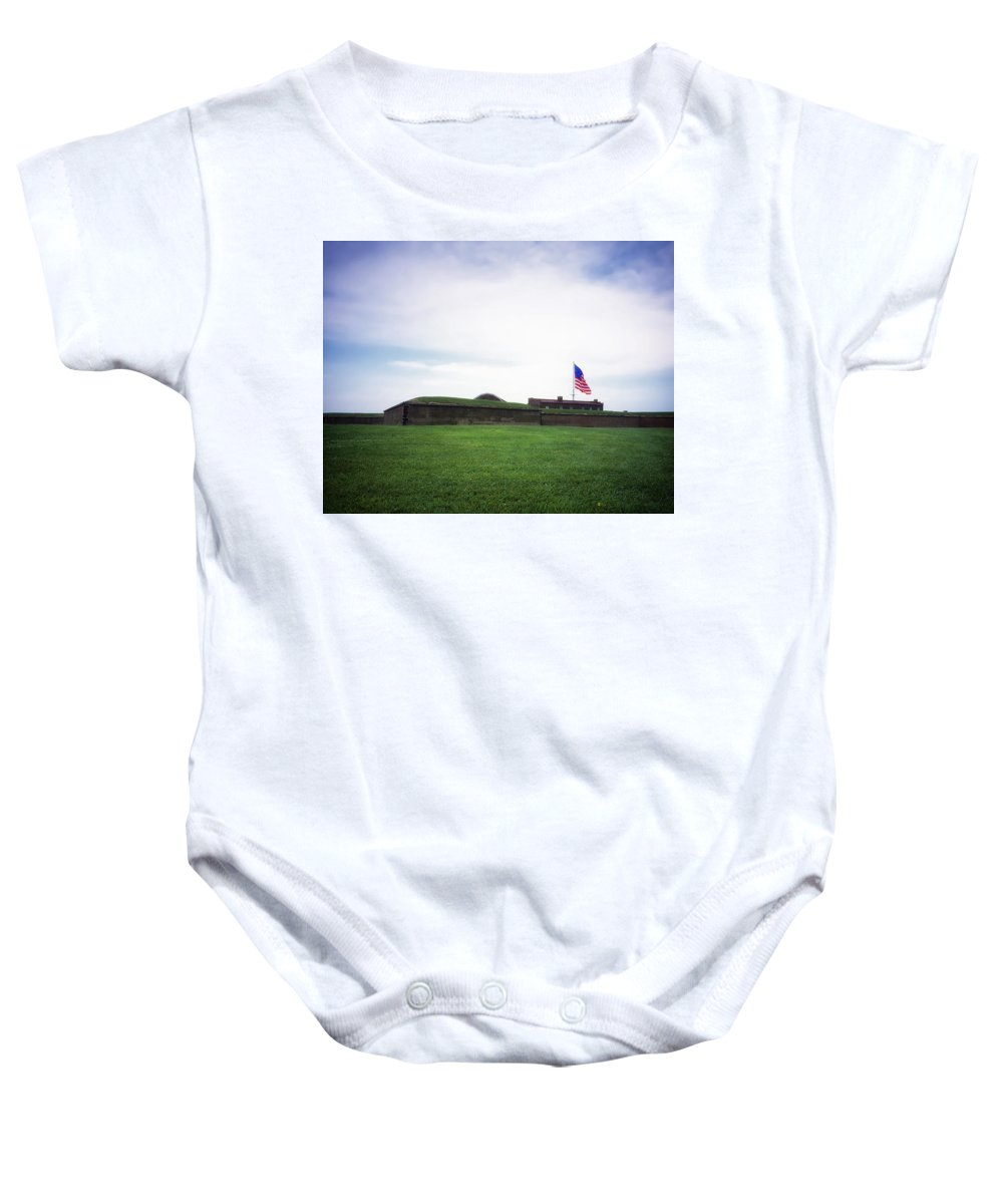 Fort Mchenry Baby Onesie featuring the photograph Fort Mchenry by Mountain Dreams