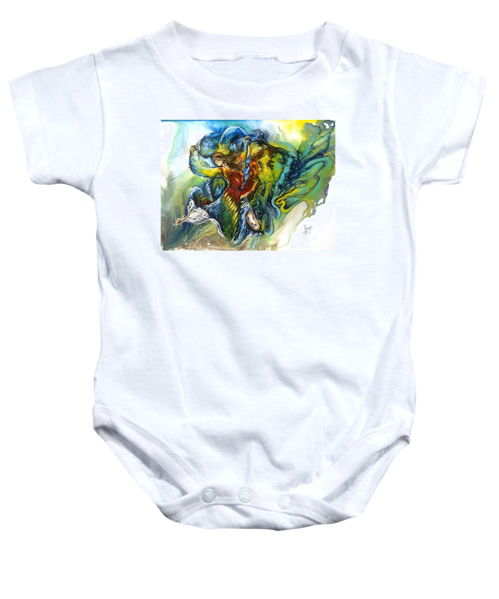 Freedom Baby Onesie featuring the painting Freedom by Karina Llergo