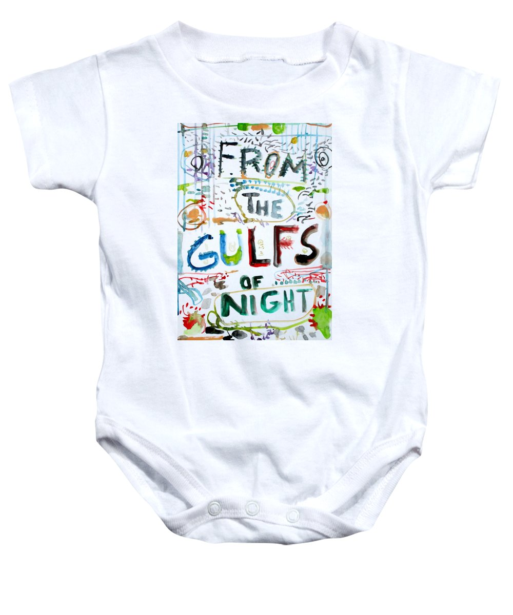 Written Baby Onesie featuring the painting From The Gulfs Of Night by Fabrizio Cassetta