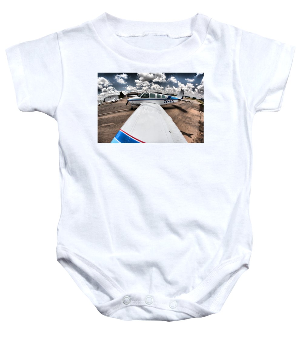 South African Reserve Force Baby Onesie featuring the photograph From The Wing by Paul Job
