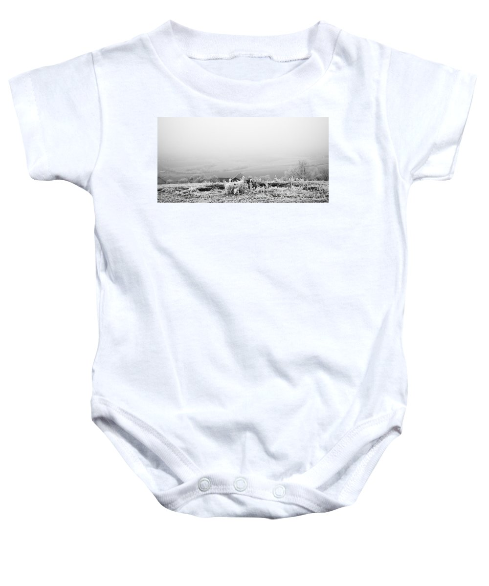 Landscape Baby Onesie featuring the photograph Frosty Hill by Stanislav Killer