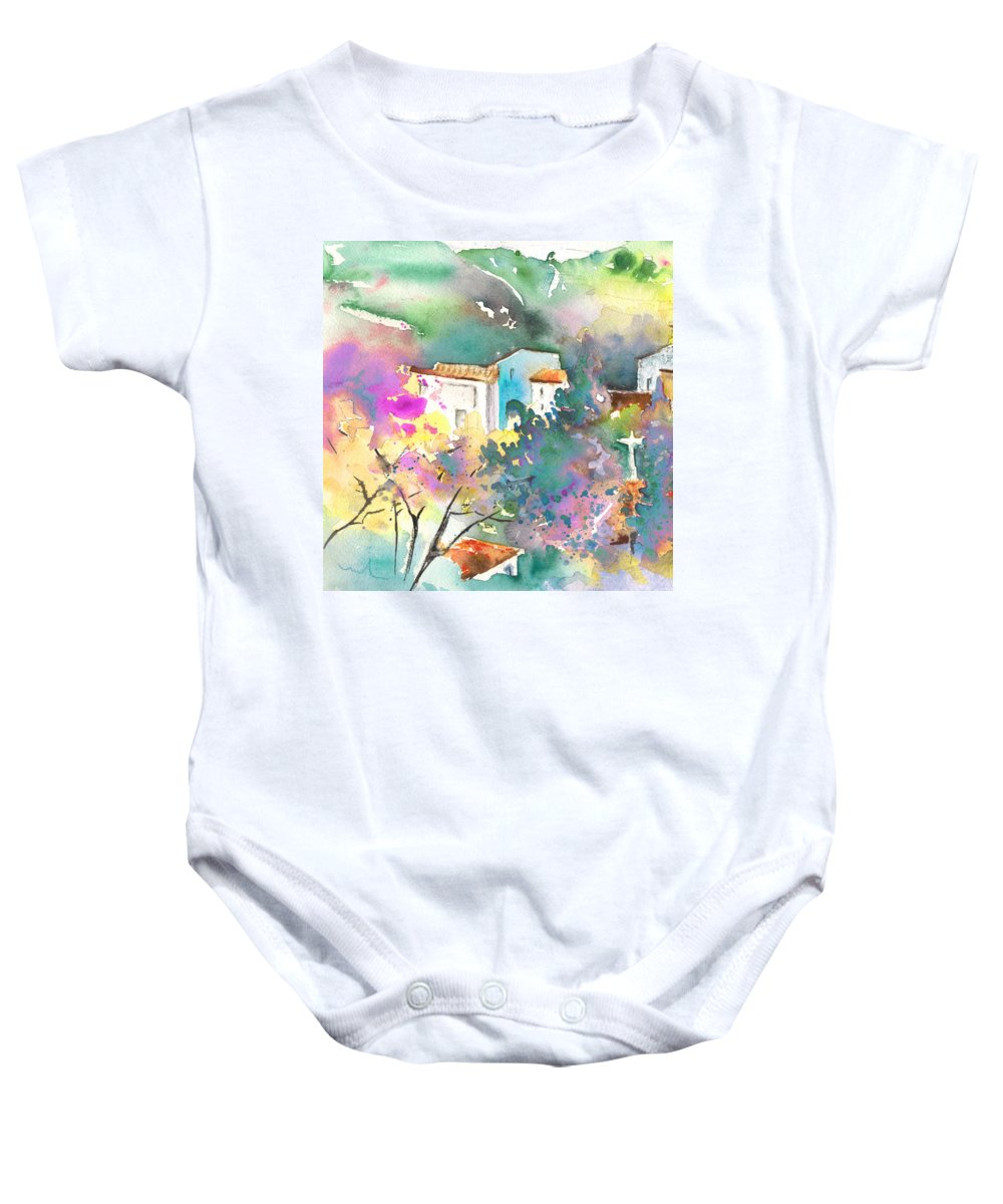 Travel Baby Onesie featuring the painting Gatova Spain 01 by Miki De Goodaboom