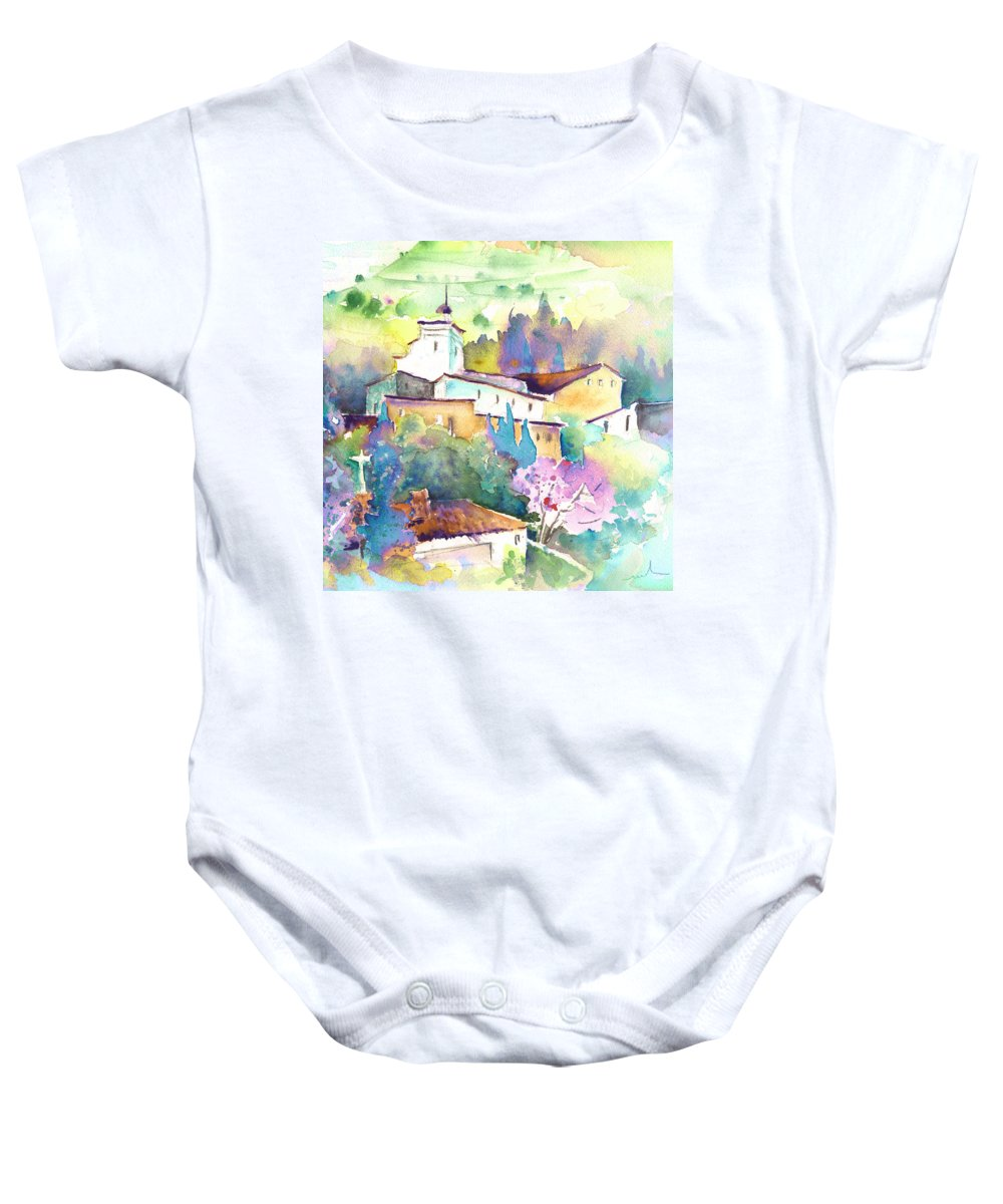Travel Baby Onesie featuring the painting Gatova Spain 02 by Miki De Goodaboom
