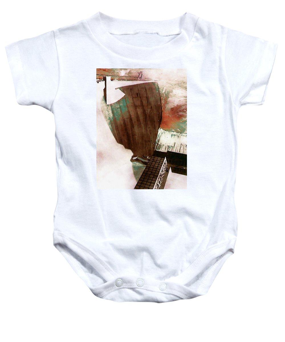 Digital Baby Onesie featuring the digital art Glen Canyon Dam by David Hansen