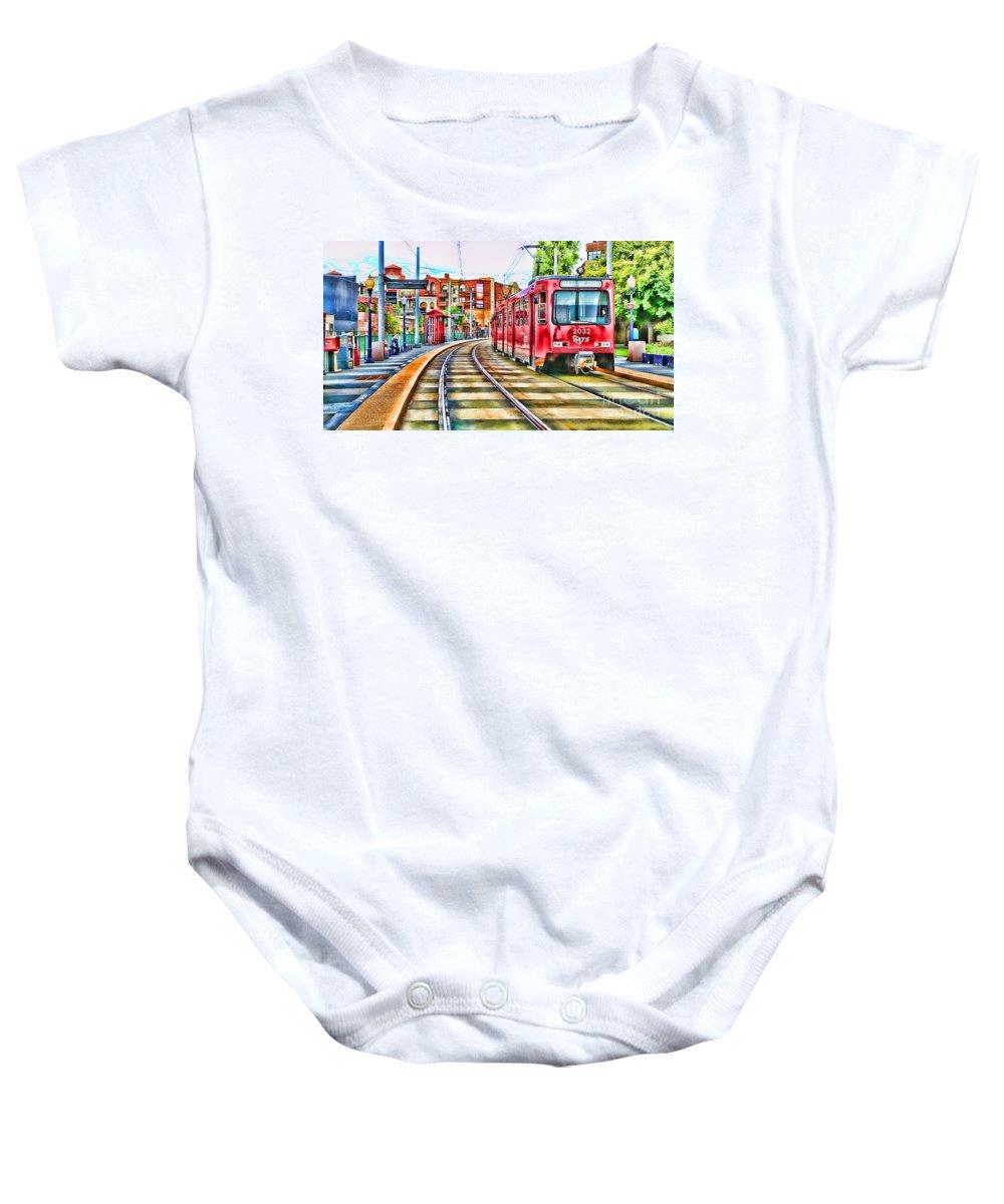 Train Baby Onesie featuring the photograph Going To Gillespie Field By Diana Sainz by Diana Raquel Sainz
