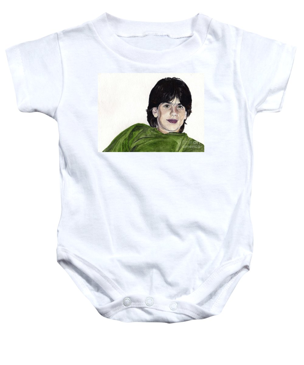 Cousin Baby Onesie featuring the painting Goni by Tamir Barkan