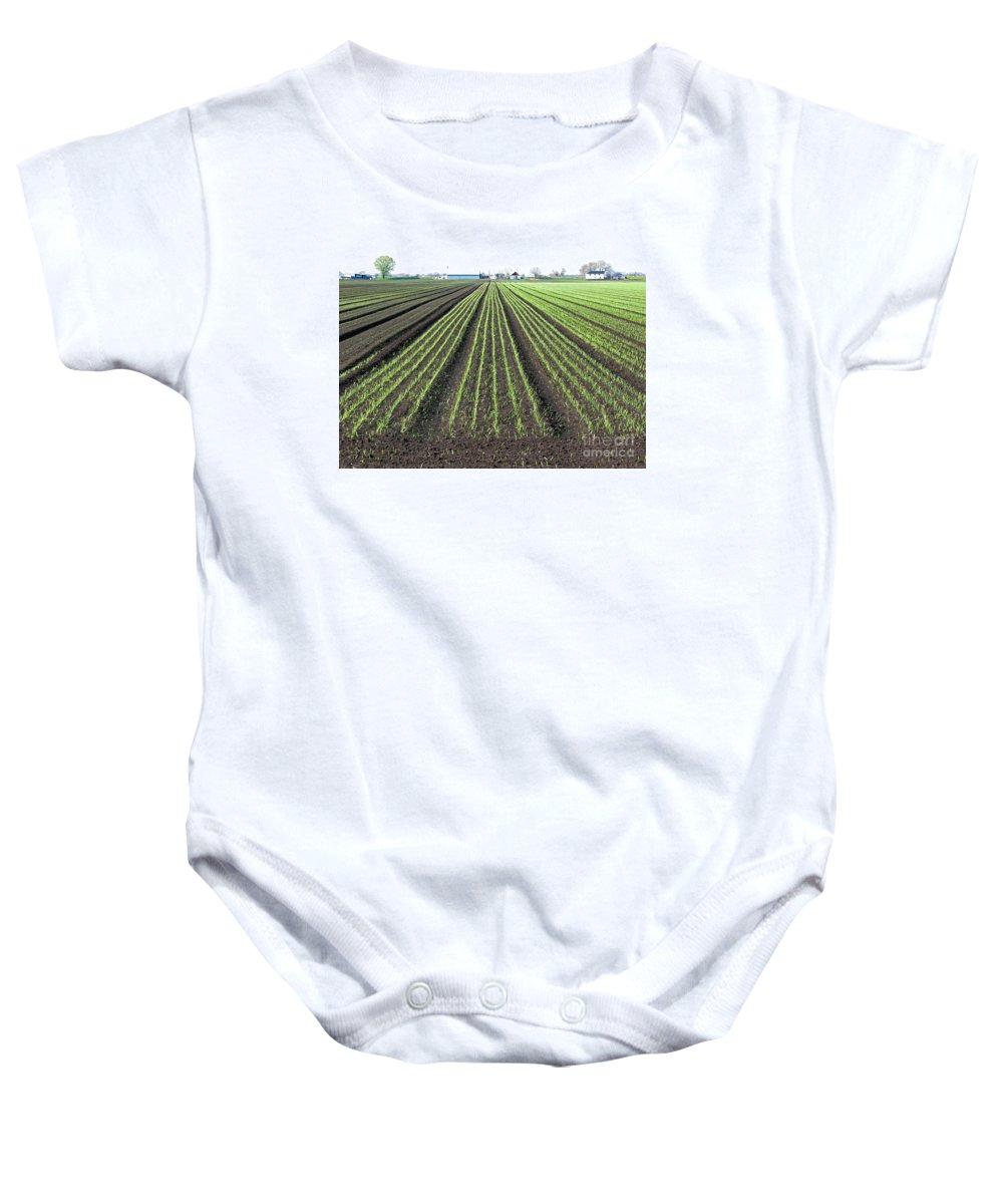 Farm Baby Onesie featuring the photograph Good Earth by Ann Horn