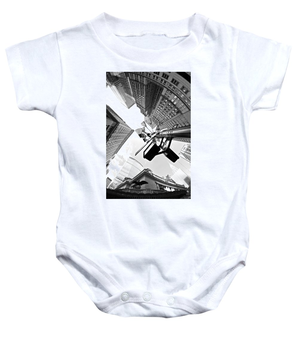 New York Baby Onesie featuring the photograph Grand Central America by Paul Watkins