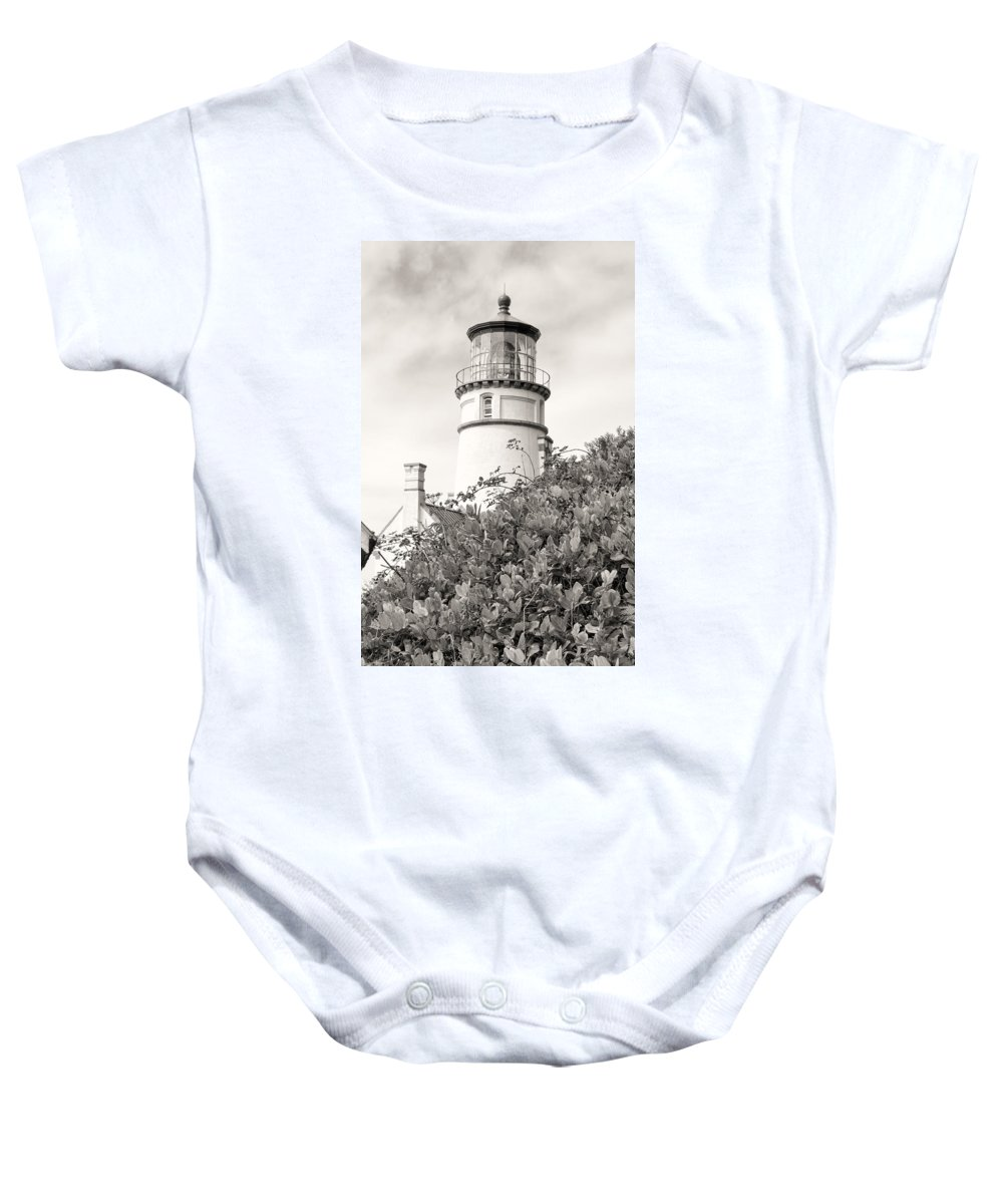 Baby Onesie featuring the photograph Haceta Head Lighthouse 2 by Cathy Anderson