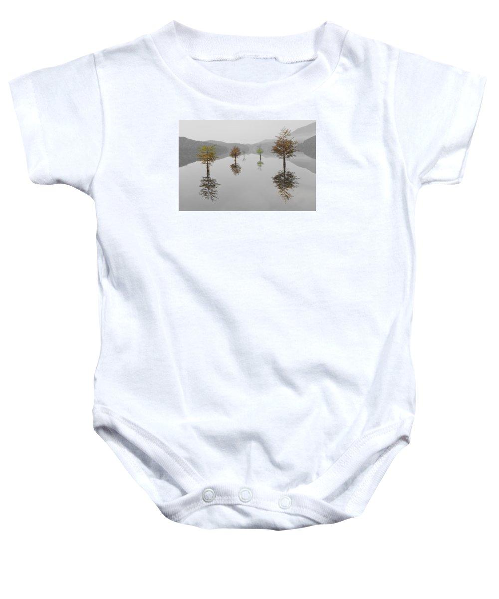 Appalachia Baby Onesie featuring the photograph Hanging Garden by Debra and Dave Vanderlaan