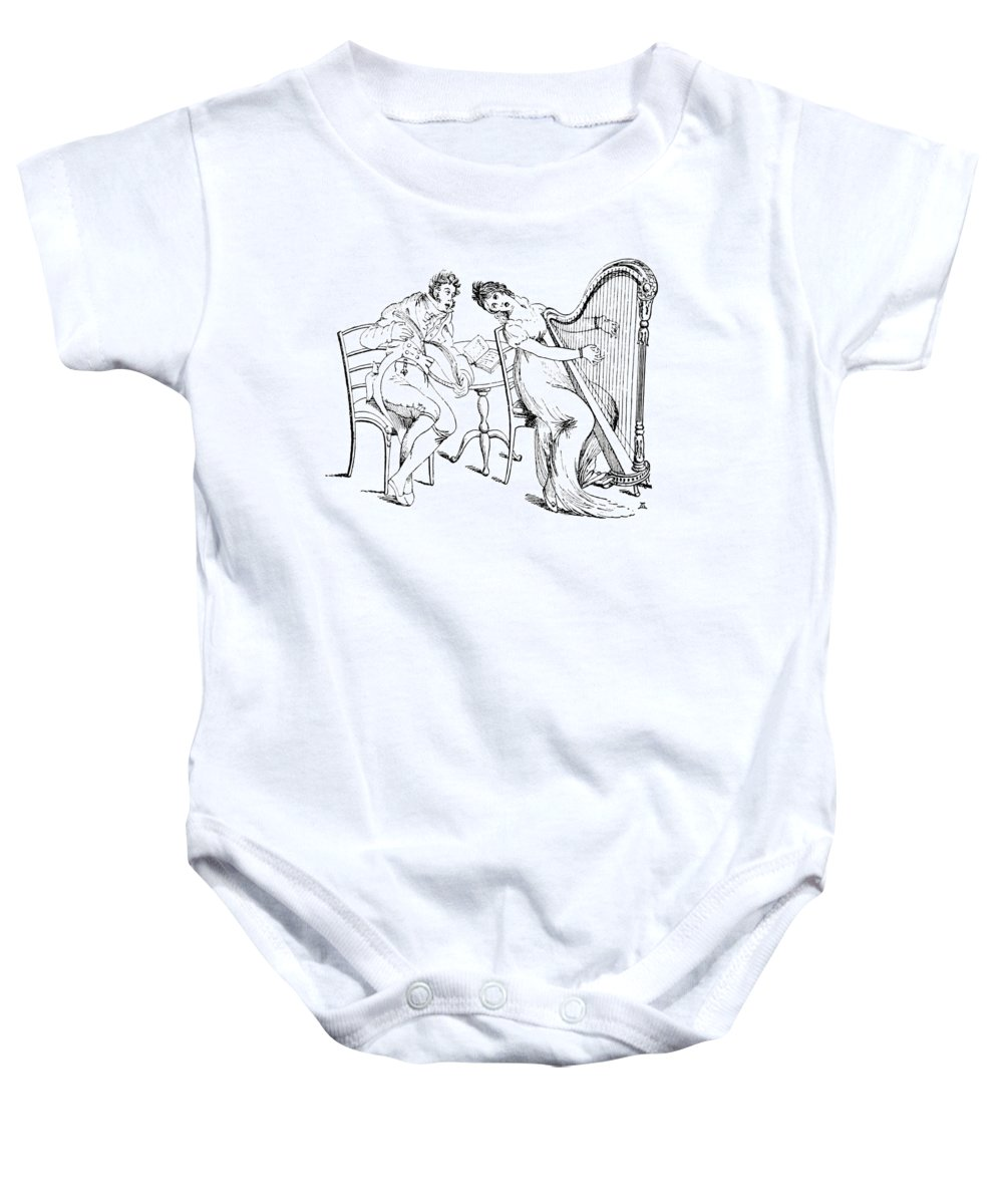Holiday Baby Onesie featuring the photograph Harmony Before Matrimony, 1886 by British Library