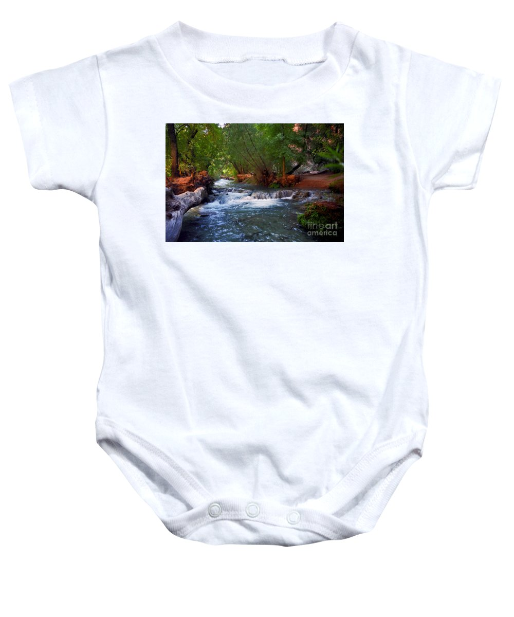 Arizona Baby Onesie featuring the photograph Havasu Creek by Kathy McClure
