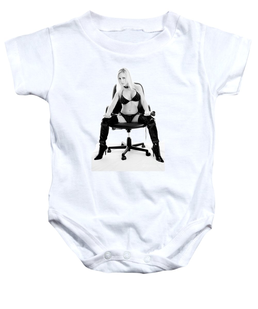 Woman Baby Onesie featuring the photograph Have You Been Bad by Jt PhotoDesign
