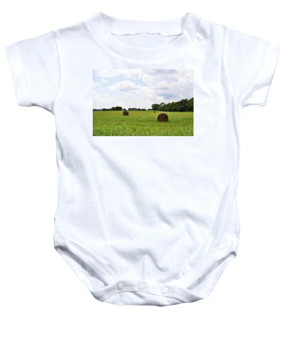 Hay Baby Onesie featuring the photograph HAY by Verana Stark