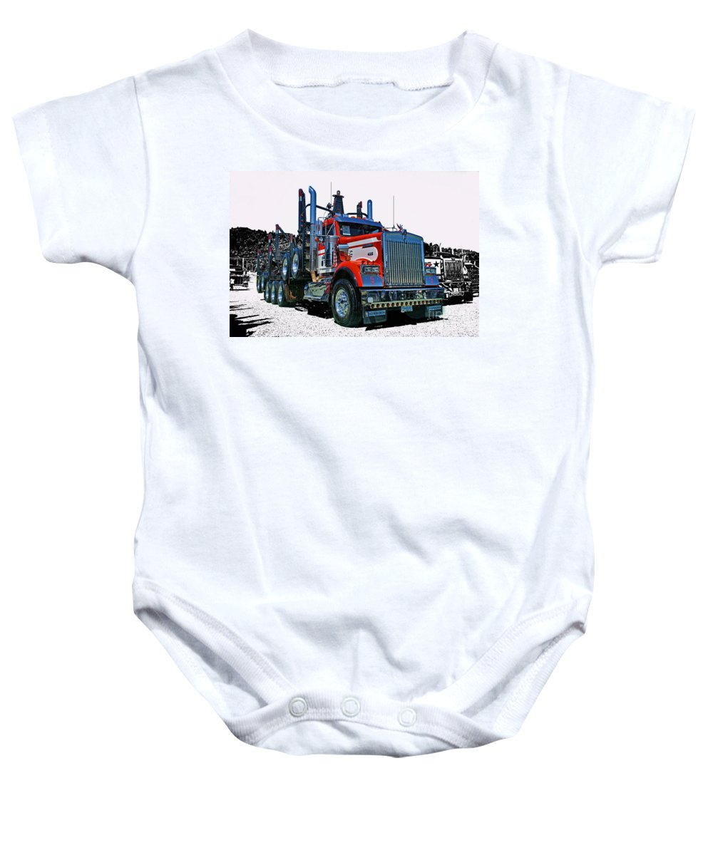 Trucks Baby Onesie featuring the photograph Hdrcatr3120-13 by Randy Harris