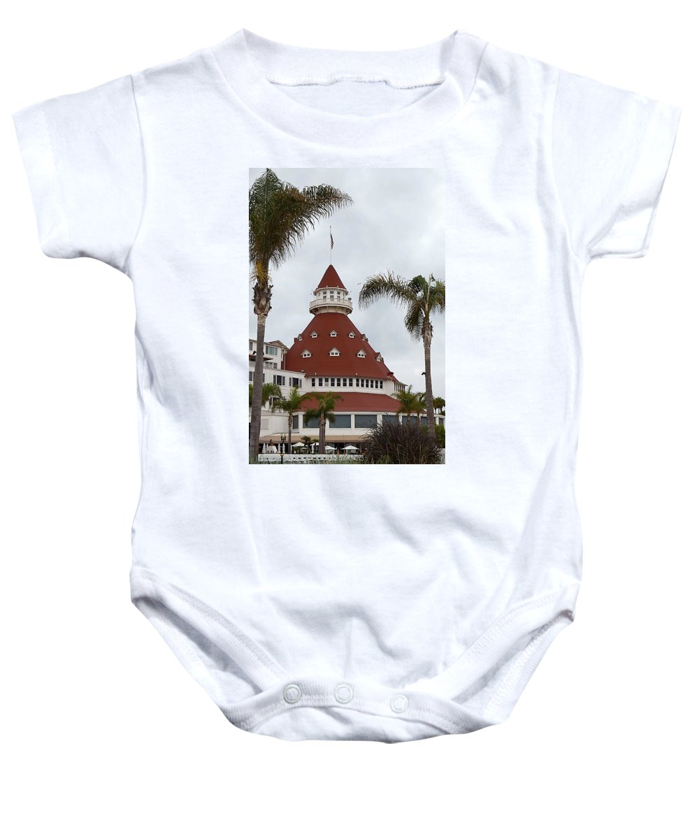 Hotel Del Coronado Baby Onesie featuring the photograph Heart Of San Diego by See My Photos