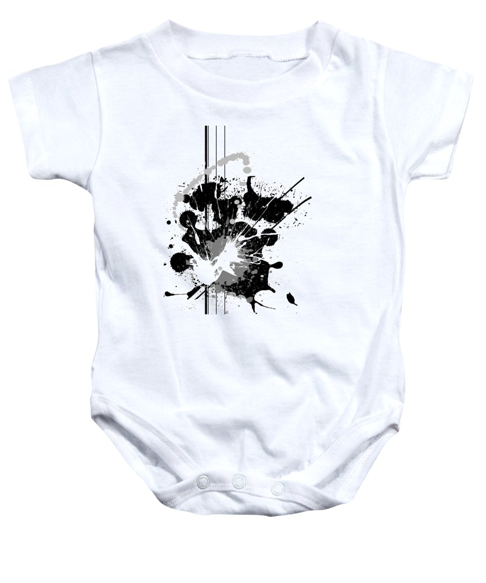 Abstract Baby Onesie featuring the digital art Heather by Melissa Smith