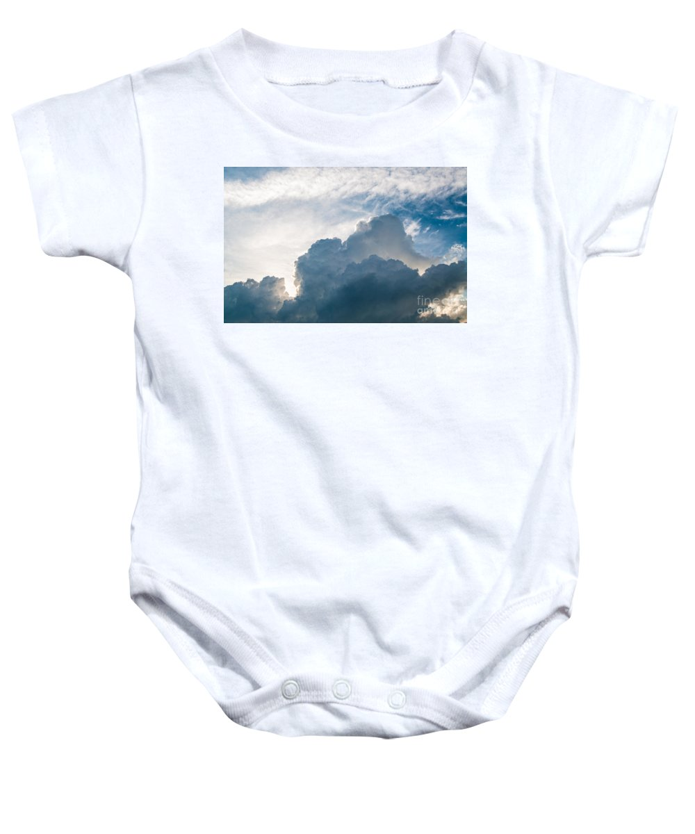 Cloud Baby Onesie featuring the photograph Heavenly Skies by Bianca Nadeau