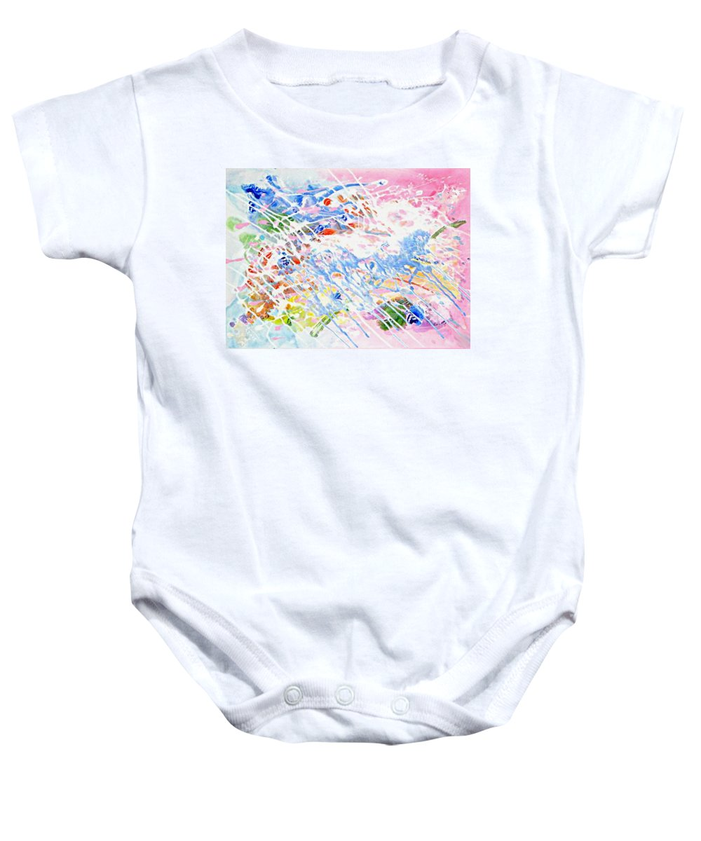 Heaven's Music Baby Onesie featuring the mixed media Heaven's Music by Kume Bryant
