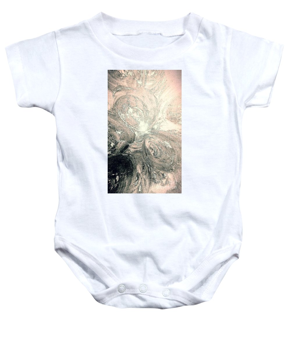 Glow Baby Onesie featuring the painting Her Inner Glow by Jacqueline McReynolds