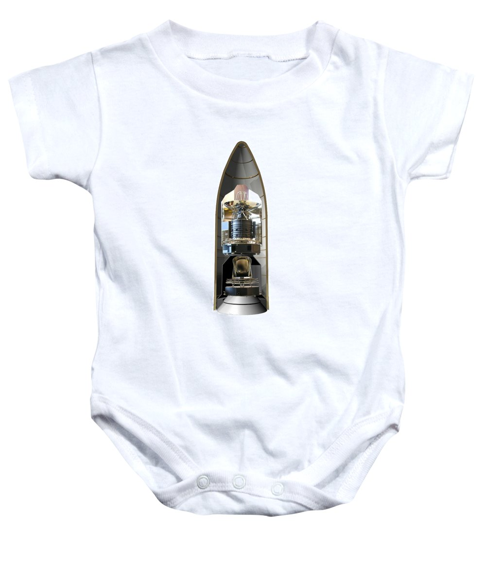 Science Baby Onesie featuring the photograph Herschel And Planck Launch Configuration by Science Source