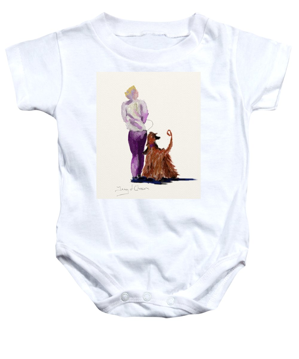 Ipad Painting Baby Onesie featuring the painting Hey Ma Look Over There by Terry Chacon