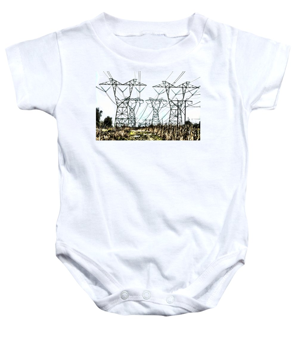 High Baby Onesie featuring the photograph High Wire Act by Bill Cannon