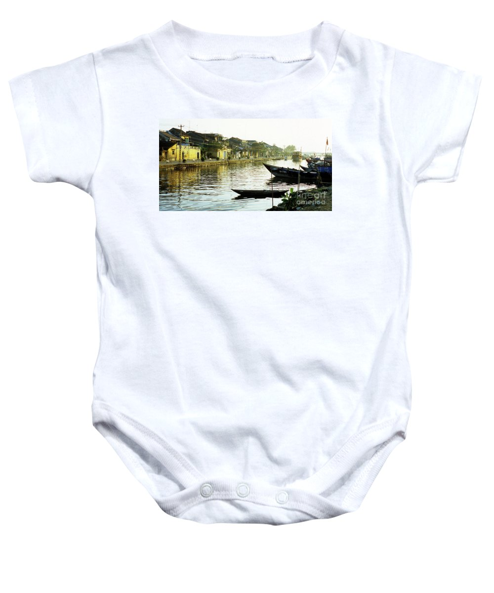 Vietnam Baby Onesie featuring the photograph Hoi An Dawn 01 by Rick Piper Photography
