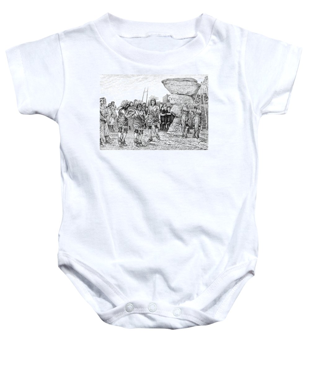 Religion Baby Onesie featuring the photograph Hopi Indian Snake Dance by British Library