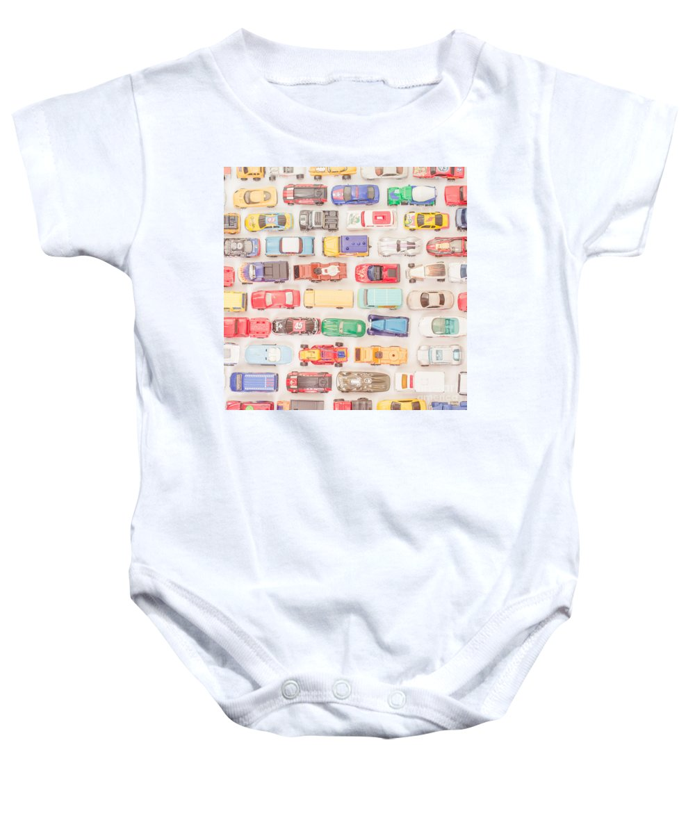 Cars Baby Onesie featuring the photograph Hot Wheels Square Format by Edward Fielding