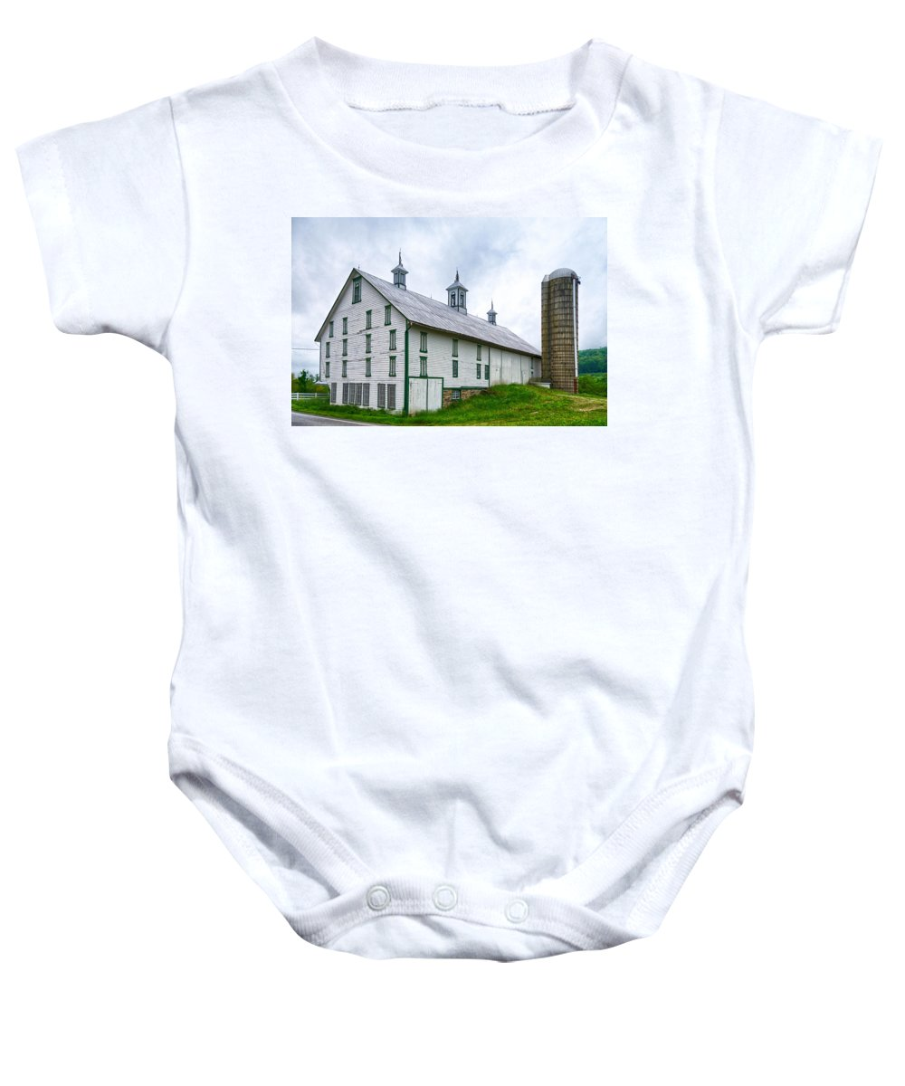 Adams County Baby Onesie featuring the photograph Hotel Bovine 2646c by Guy Whiteley