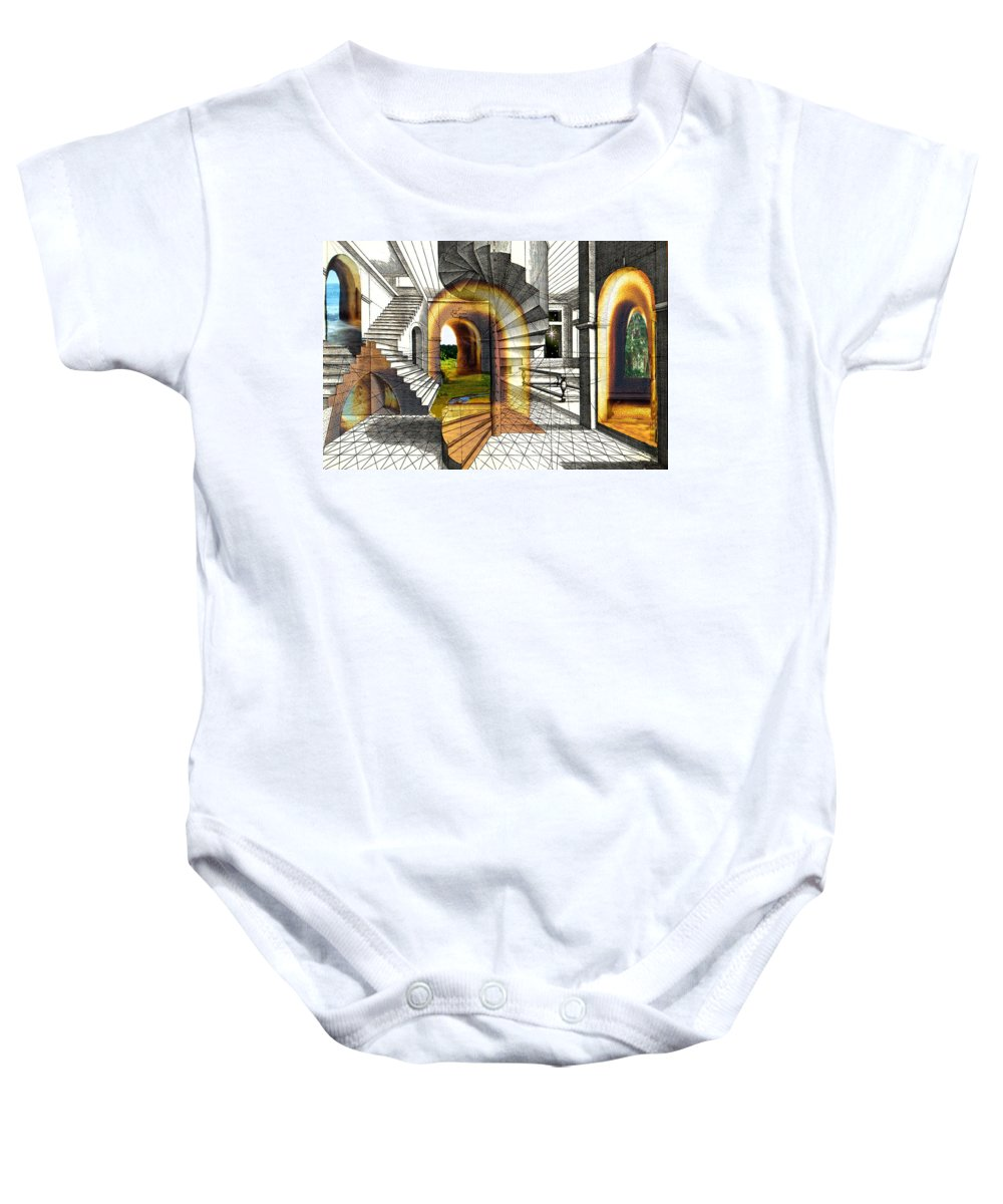 House Baby Onesie featuring the digital art House Of Dreams by Lisa Yount